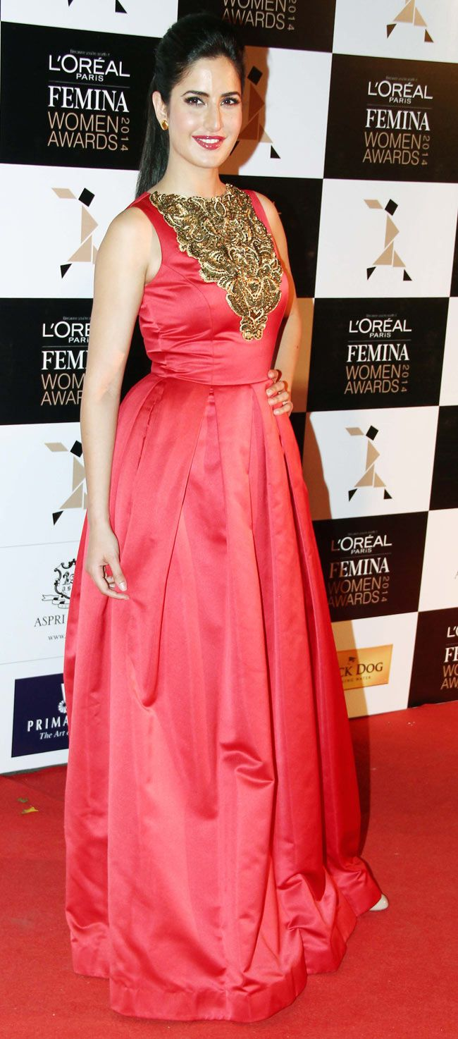 Katrina Kaif at the L'Oreal Paris Femina Women Awards 2014. #Style #Bollywood #Fashion #Beauty
