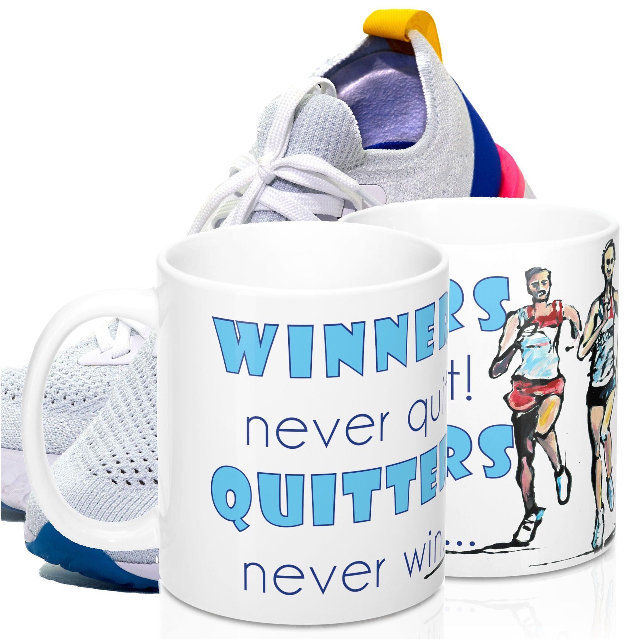 Winners Never Quit Runners Coffee Mug Coffee Mug For