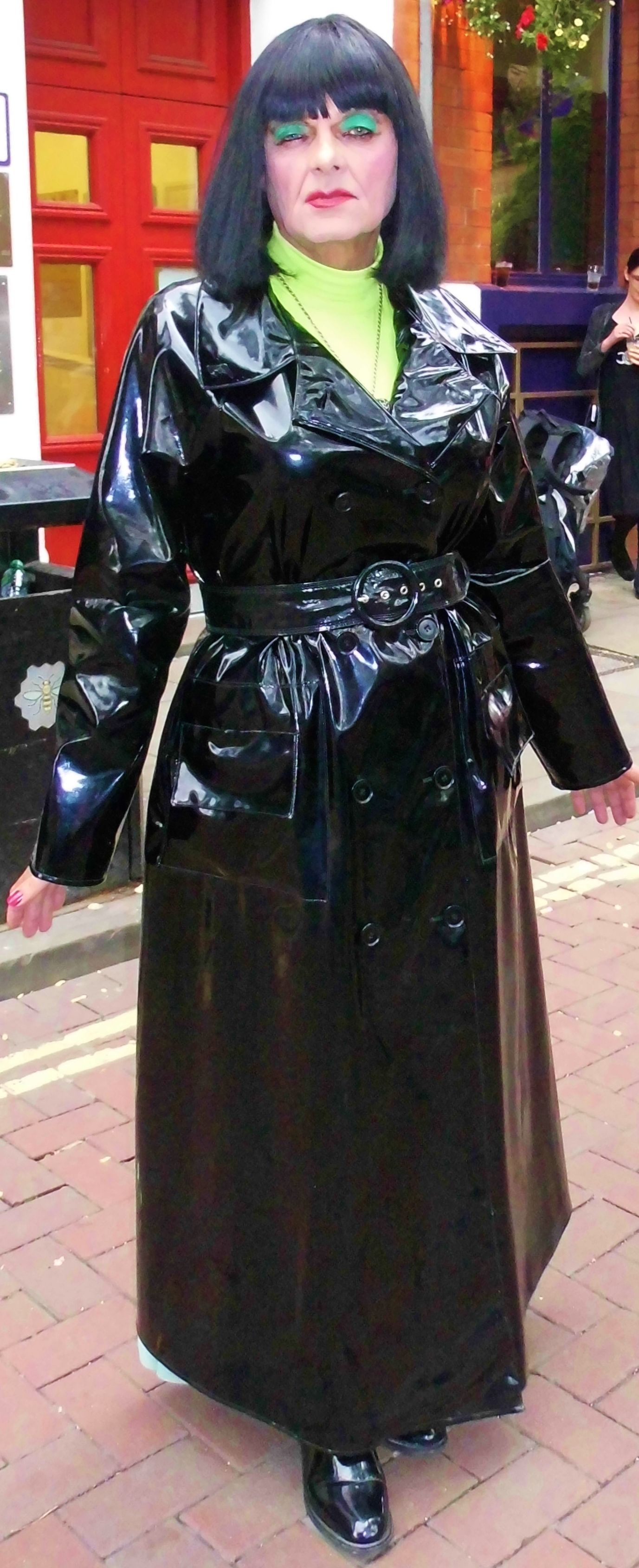 Too much cleavage wedding dress  Pin by DAWN RAIN on rubber and rippling rubberised rainwear  Pinterest
