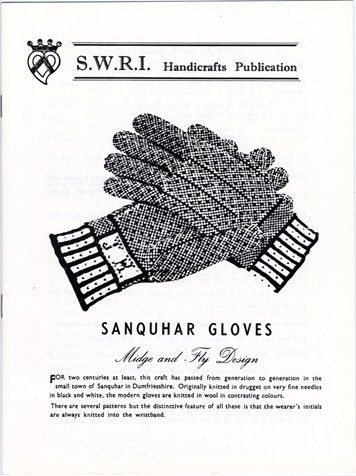 Sanquhar Gloves, Midge and Fly design knitting pattern