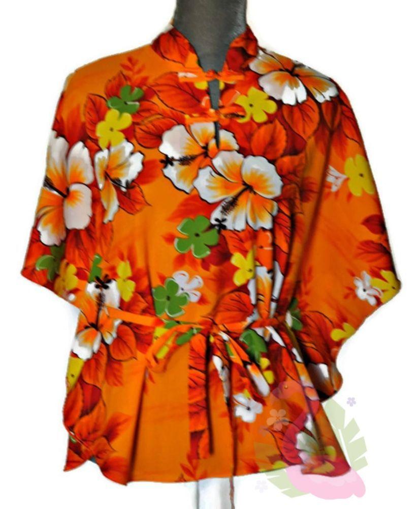 1faf4ddc6a67e Vintage Sears Hawaiian Fashions Blouse Womens Large Floral Tunic Top Boho  70s  SearsHawaiianFashions  Casual