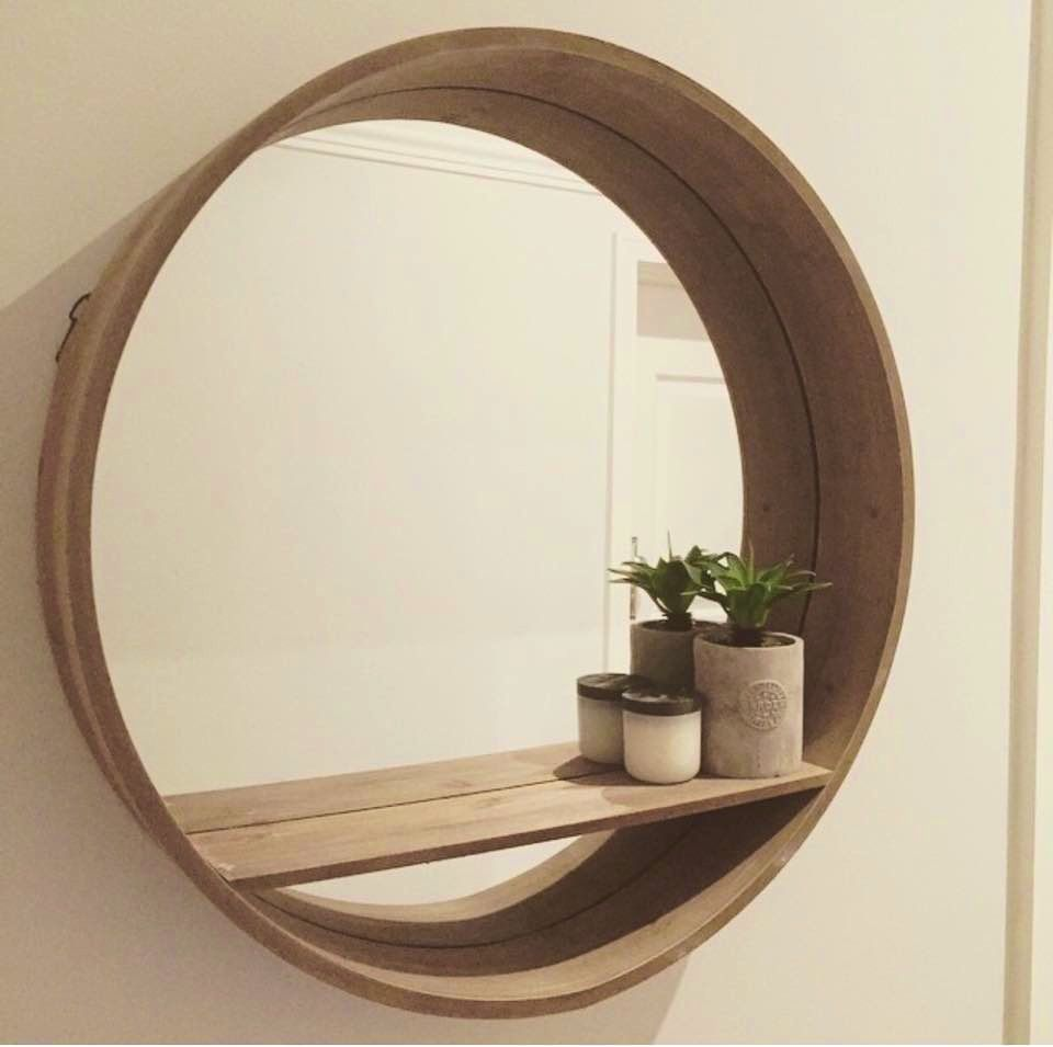 Accessories:Wonderful Ideas About Mirror Shelf Bathroom Round ...