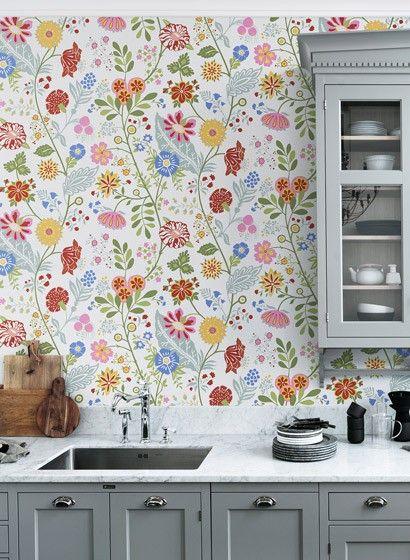 Tapeten Für Die Küche blumentapete amelie sandberg 2555 die küche skandinavisch und