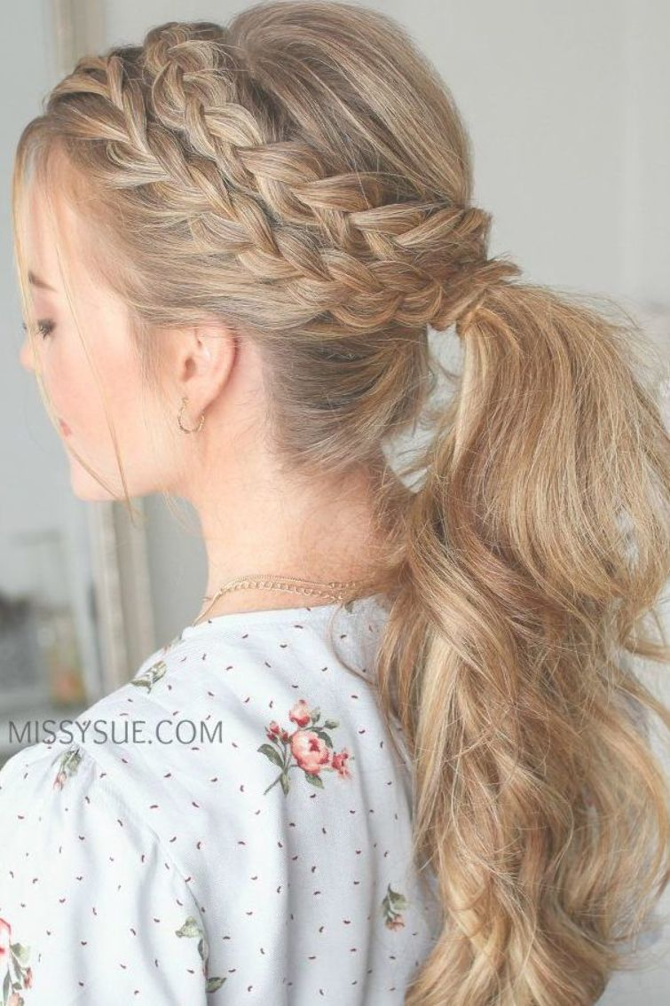 Lace Dutch Braid Ponytail Hair Tutorial Viva La Vibes