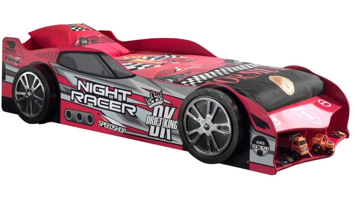 lit voiture formule 1 rouge a led