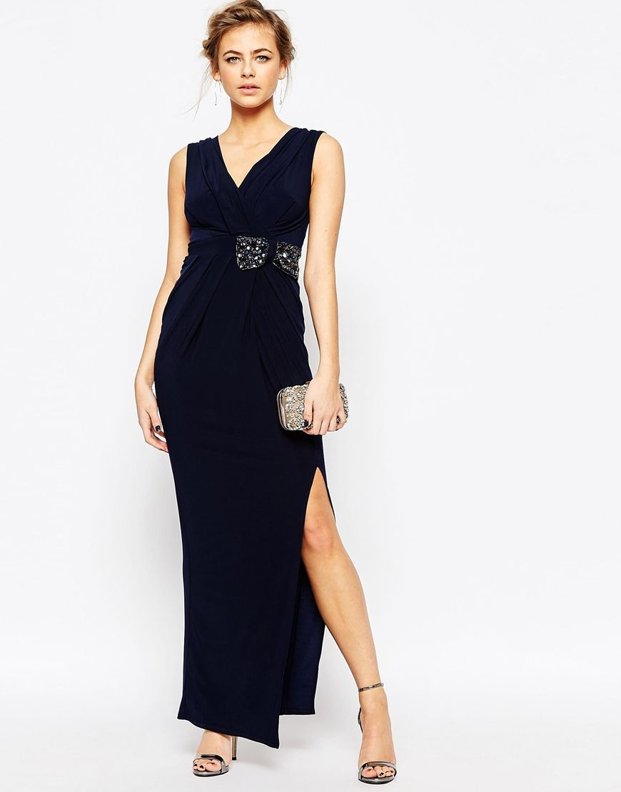 Navy Formal Jersey Dress