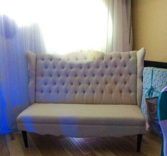 Baby shower ivory bench rental