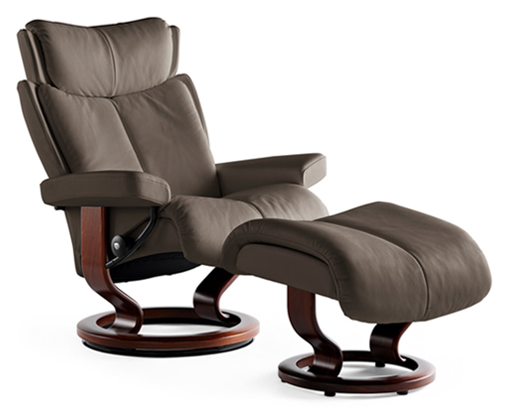 Stressless Magic | Large Leather Recliner Chair | Stressless recliner,  Ekornes, Stressless furniture