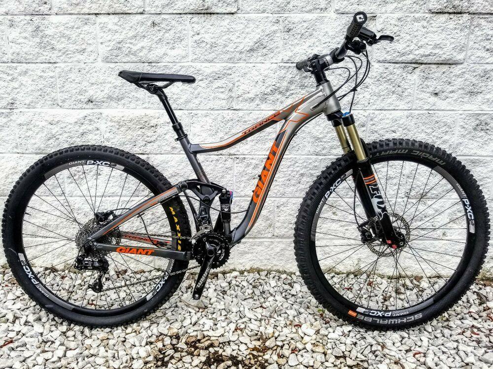 Giant Trance X 29er 1 Full Suspension Mountain Bike W Fox Suspension Low Miles Full Suspension Mountain Bike Giant Trance Bike