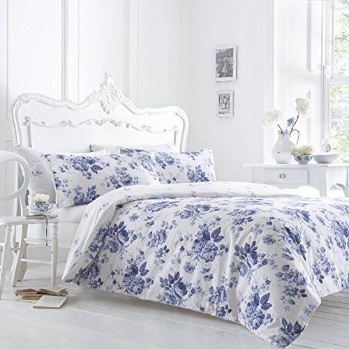 Classic Vantona Marie Floral Bedding Duvet Cover Pillowcase Set Blue White Single Size Dove Mill Bedding Http Duvet Cover Sets Duvet Bedding Duvet Design