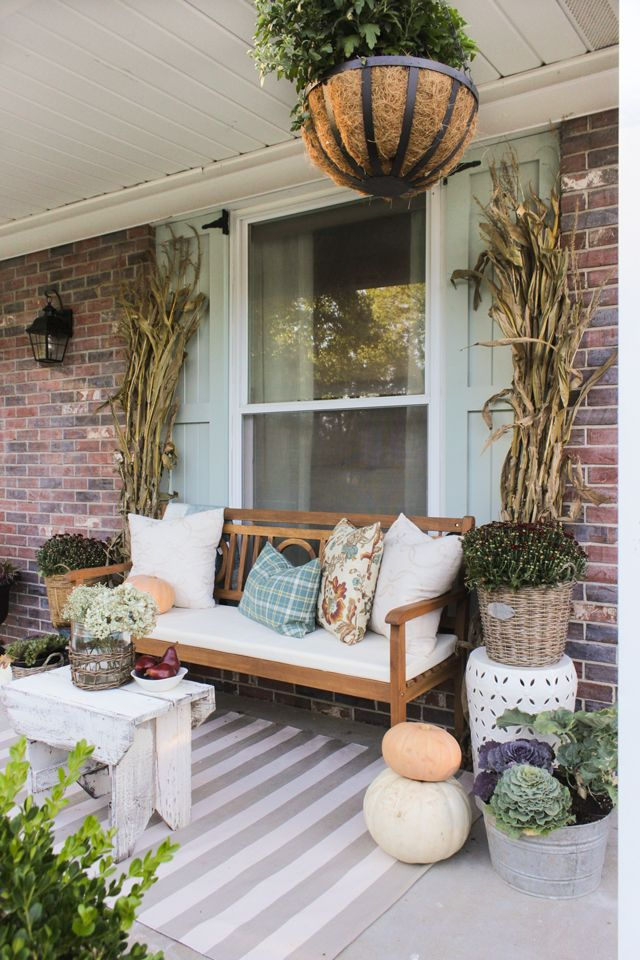 Welcome To The Fall Front Porch Front Porch Decorating Fall