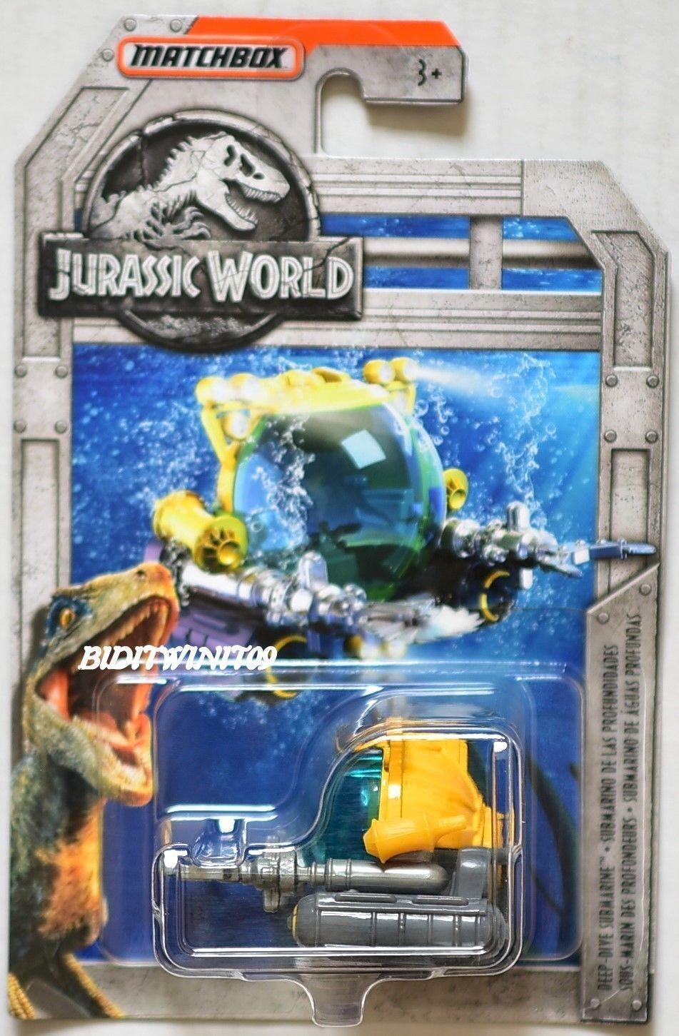Jurassic World Fallen Kingdom MatchBox Deep Dive Submarine Jurassic Park Mattel