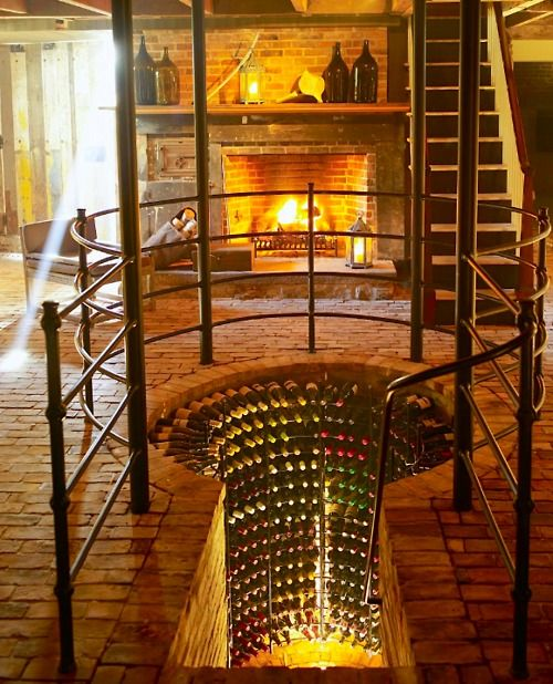 wine cellar. wow.