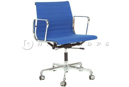 Aluminium Group low back desk chair designed by Charles Eames 1958. Available to hire from  http://www.hipprops.com/Eames,_Charles/Aluminium_Group_low_back_desk_chair