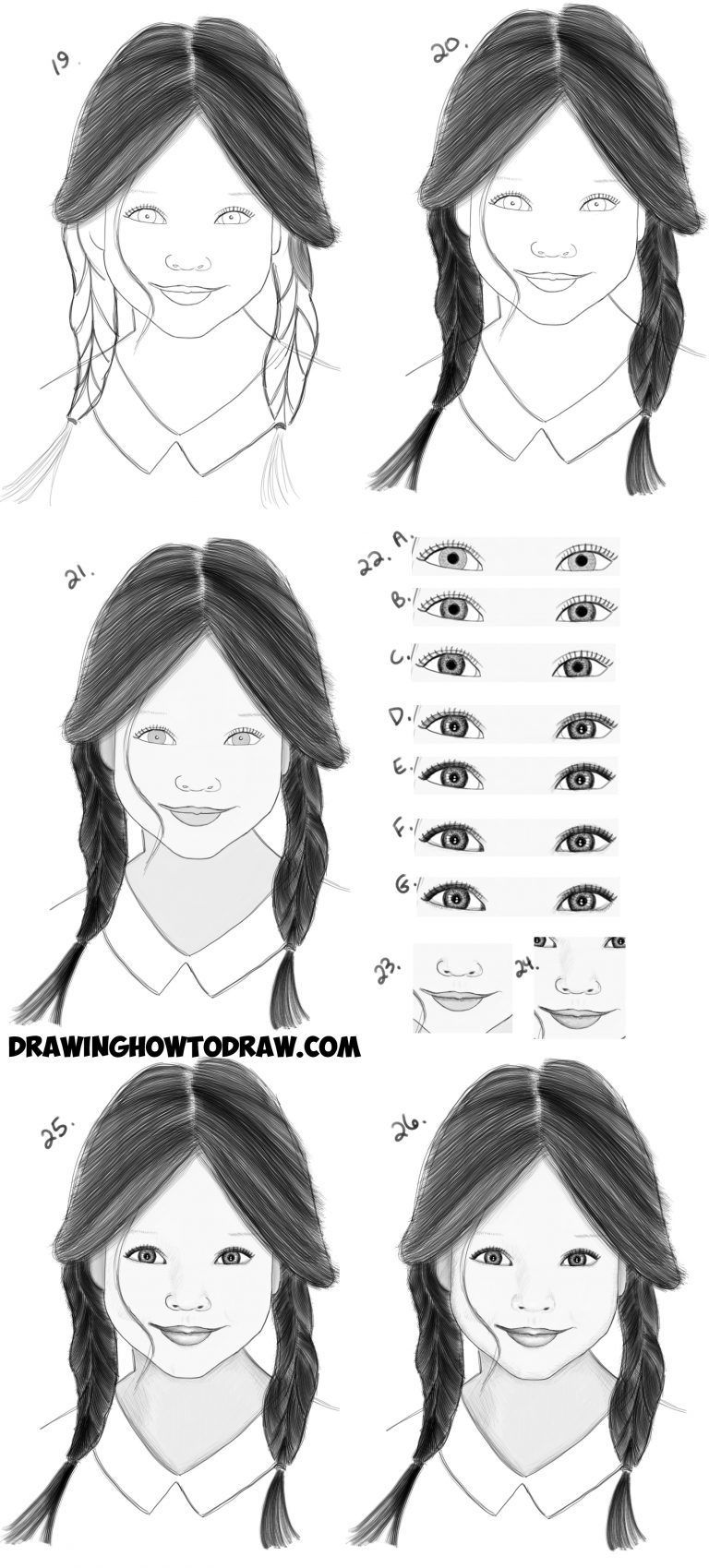 Drawing Hairstyles For Your Characters Drawing Tutorials For Beginners Girl Face Drawing Realistic Drawings