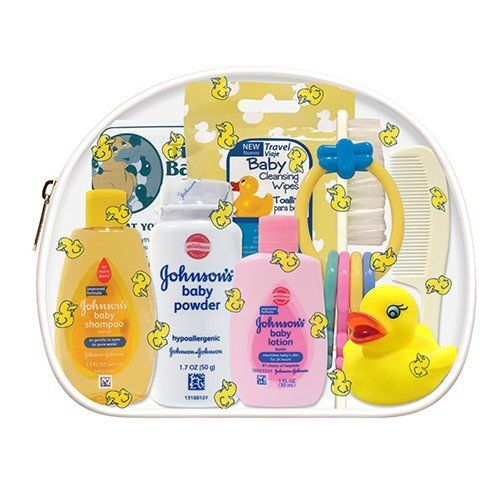 Convenience Kits Johnson Johnson Baby 10 Piece Travel Kit Baby Travel Bag Newborn Baby Shower Gifts Traveling With Baby