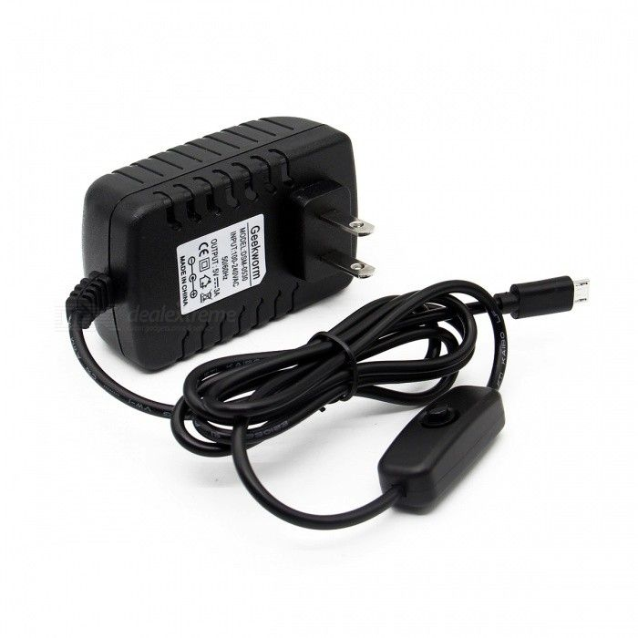 Geekworm DC 5V 3A Power Adapter with Switch for Raspberry Pi (US Plug). Find the cool gadgets at a incredibly l