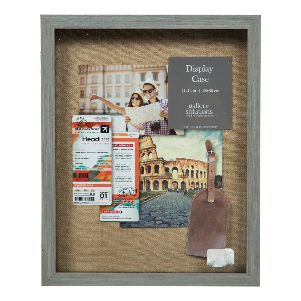 12 X 15 Distressed Shadow Box Gray Gallery Solutions Distressed Picture Frames Picture Frame Display Picture Frame Wall