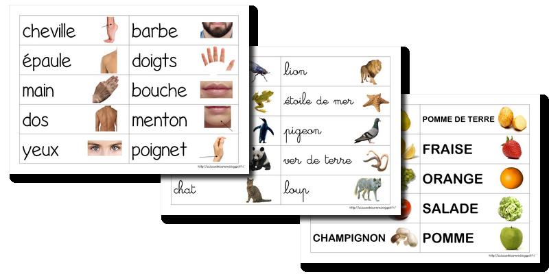 Etiquettes Mots La Classe De Laurene Exercice Pour Enfant La Maternelle De Laurene