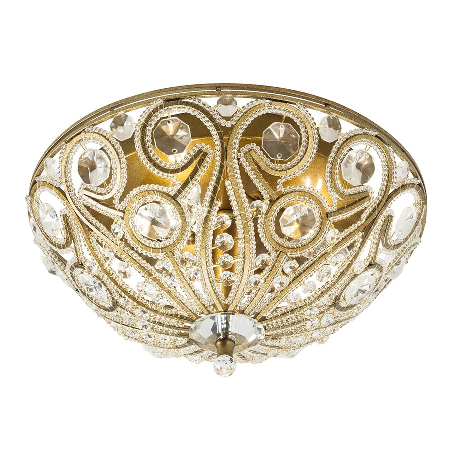 Website Picture Gallery Shop Sequina in W Gold Leaf Ceiling Flush Mount at Lowes