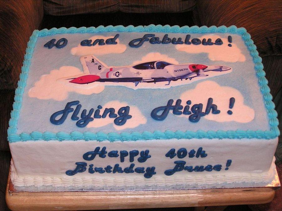 40th Birthday Cake For Pilot Photos adult birthday Pinterest