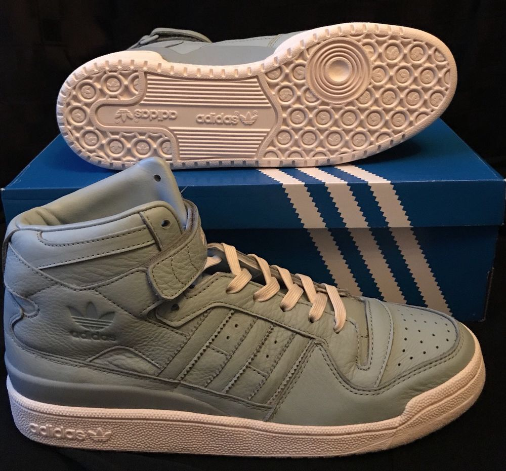 Adidas Forum Mid Refined Casual Shoes Tactile Green Blue SZ BB8913 Size US  9.5   f799b9895