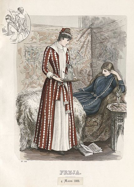 Freja- illustrerad skandinavisk modetidning 1888