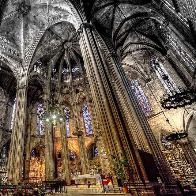 Barcelona Cathedral. #Barcelona  Photo by marcp_dmoz on Flickr -- Beautiful architecture, so detailed.