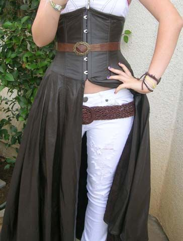 7c996f633fb Leather Underbust Corset Skirt — Pendragon Costumes