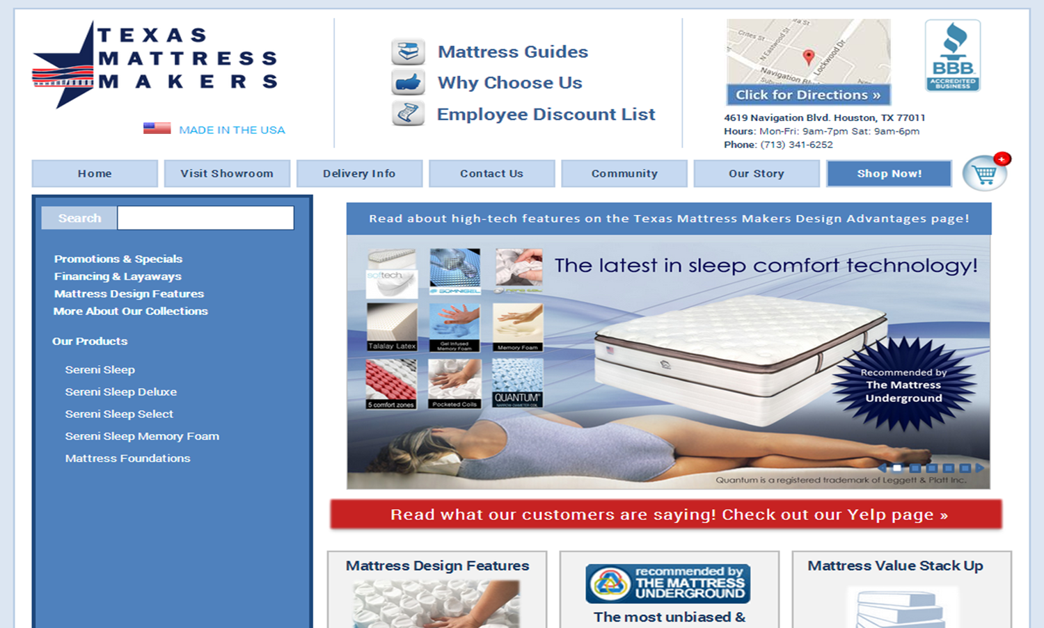 texas mattress makers is recommended by the mattress underground