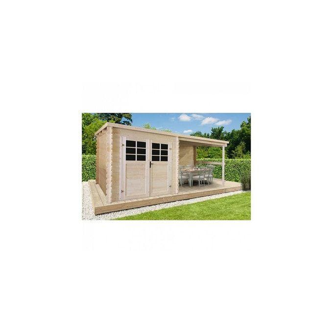 Solid Abri De Jardin Cam Lia Toit Plat Avec Auvent 4 60m 28mm