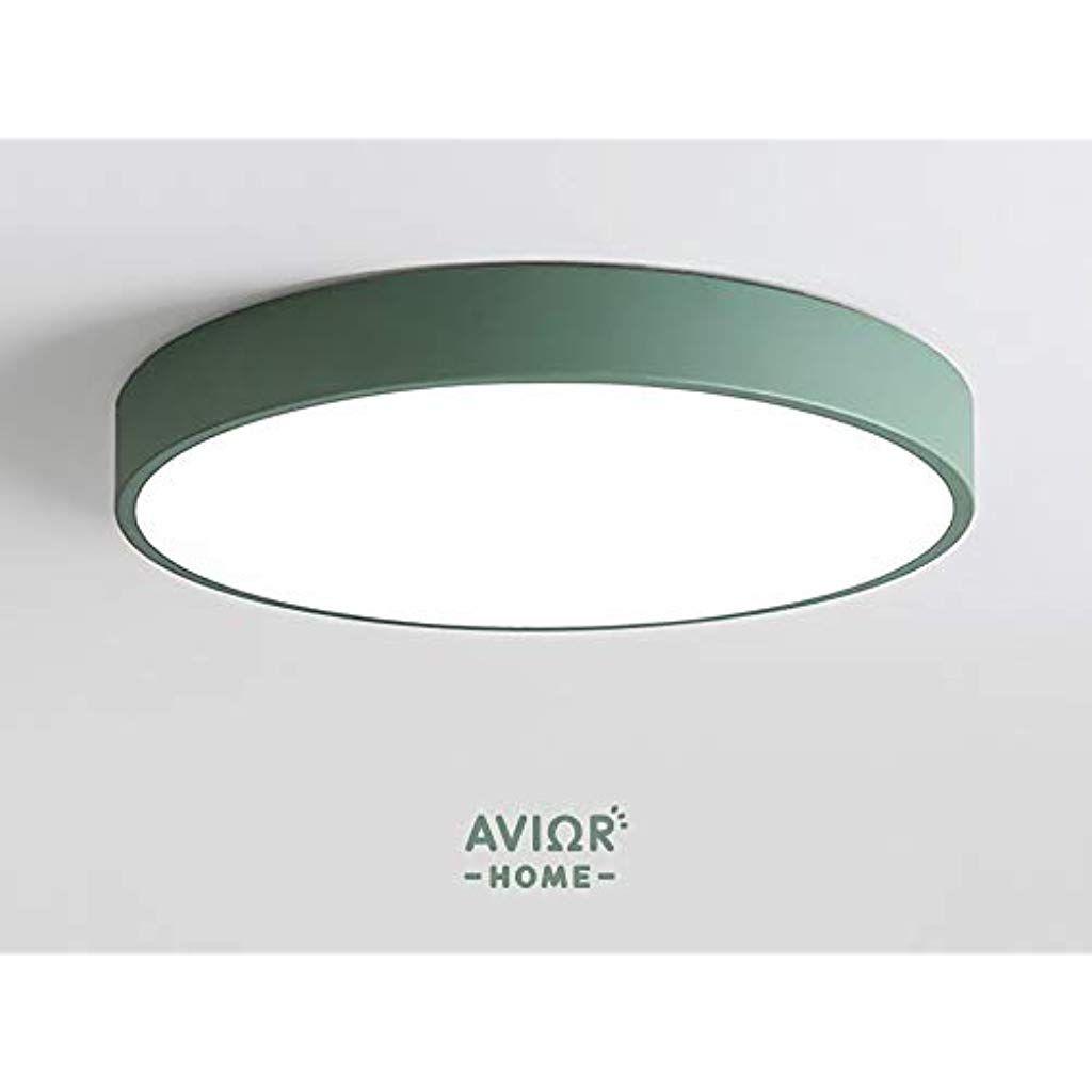 Avior Home 36w Led Deckenlampe Deckenleuchtepastell Tageslicht Grun O50 Cm Fur Wohnzimmer Schlafzimmer Kuche Beleuchtun In 2020 Led Deckenlampen Led Deckenleuchte Led