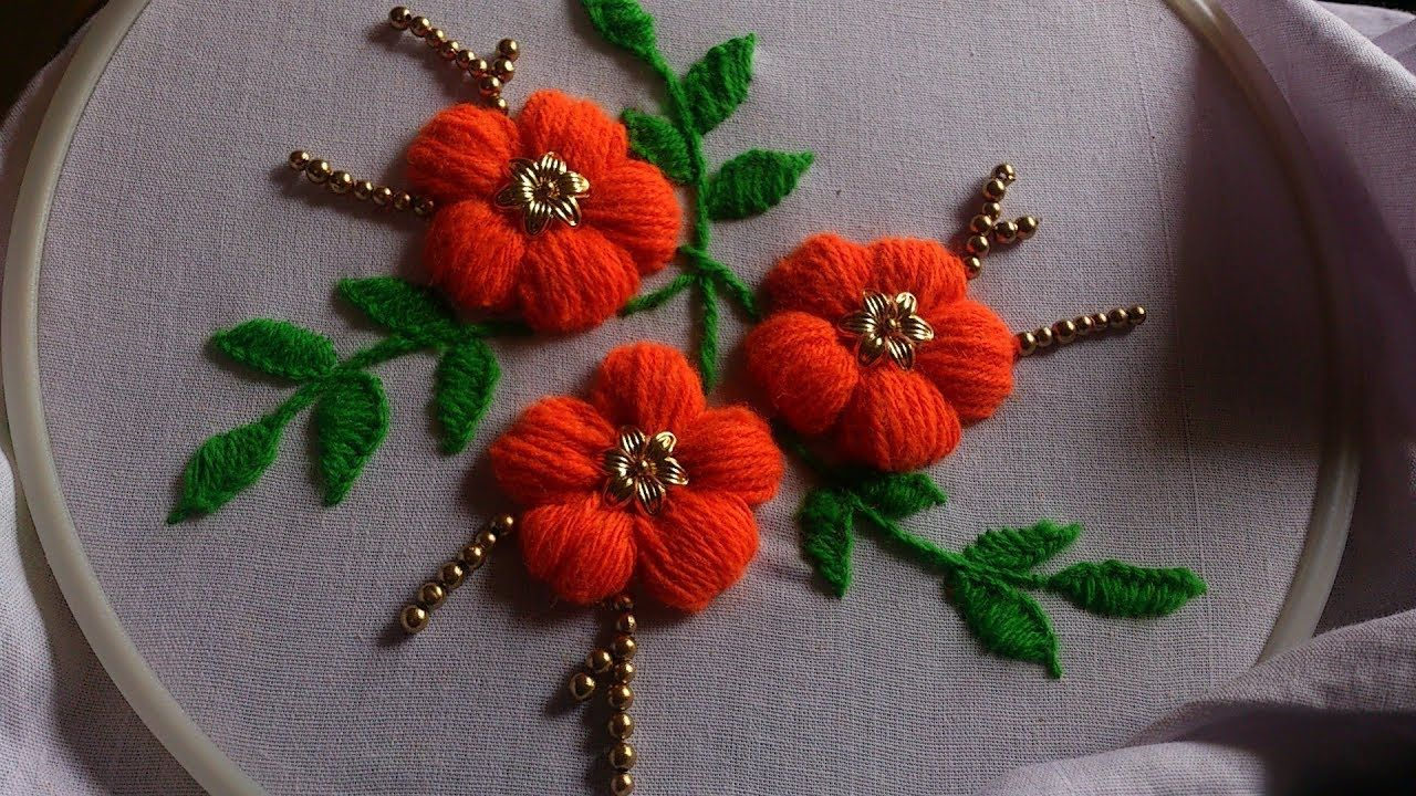 Hand embroidery flower embroidery design hand embroidery stitches