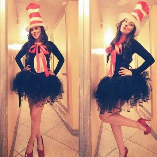 The best of halloween costumes 2014 more clever and creative diy cat in the hat halloween costume idea solutioingenieria Image collections