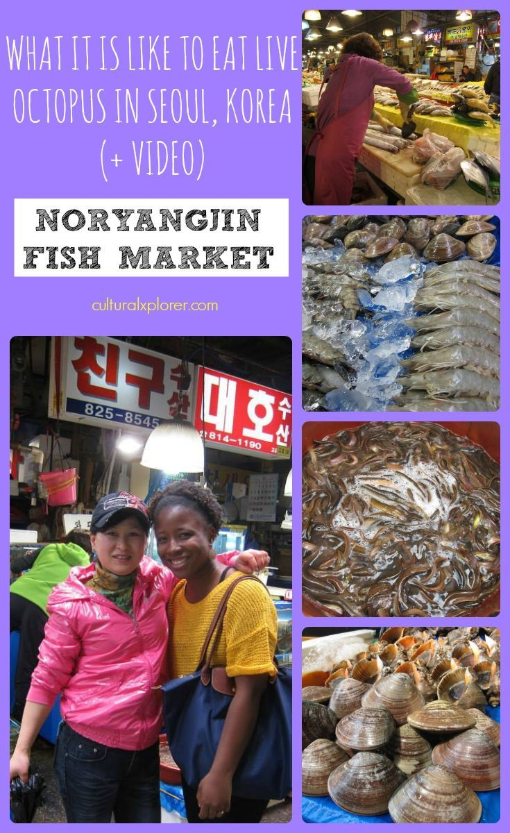 Eating Octopus At Noryangjin Fish Market Traveling By Yourself