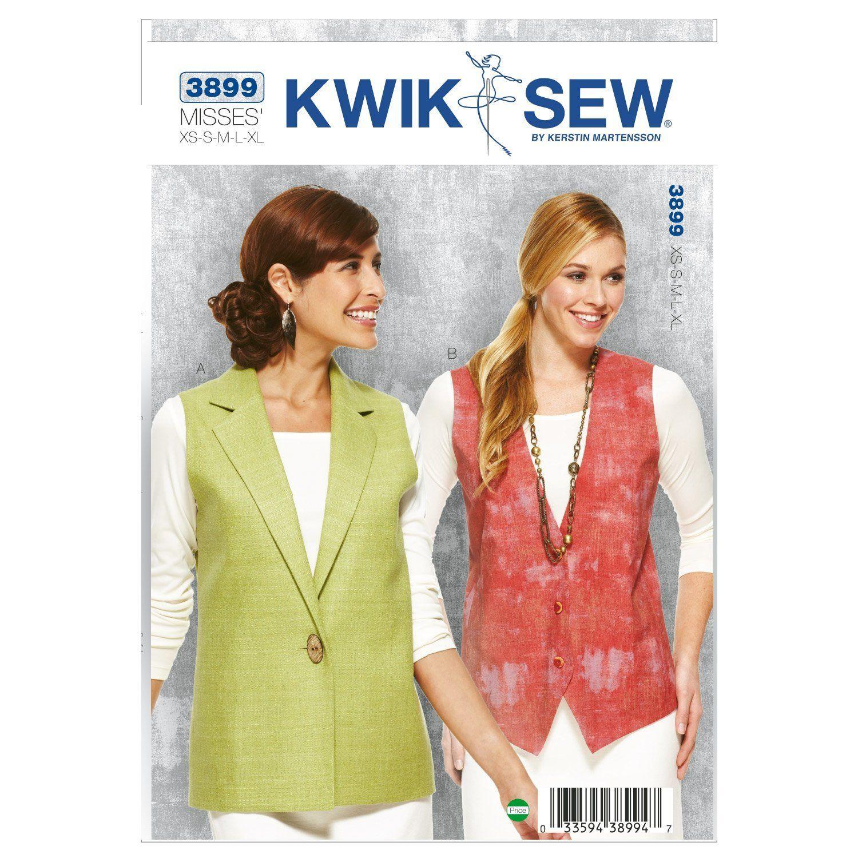 McCalls Patterns M6228 Medium Misses// Mens Lined Vests Size Pack of 1 White