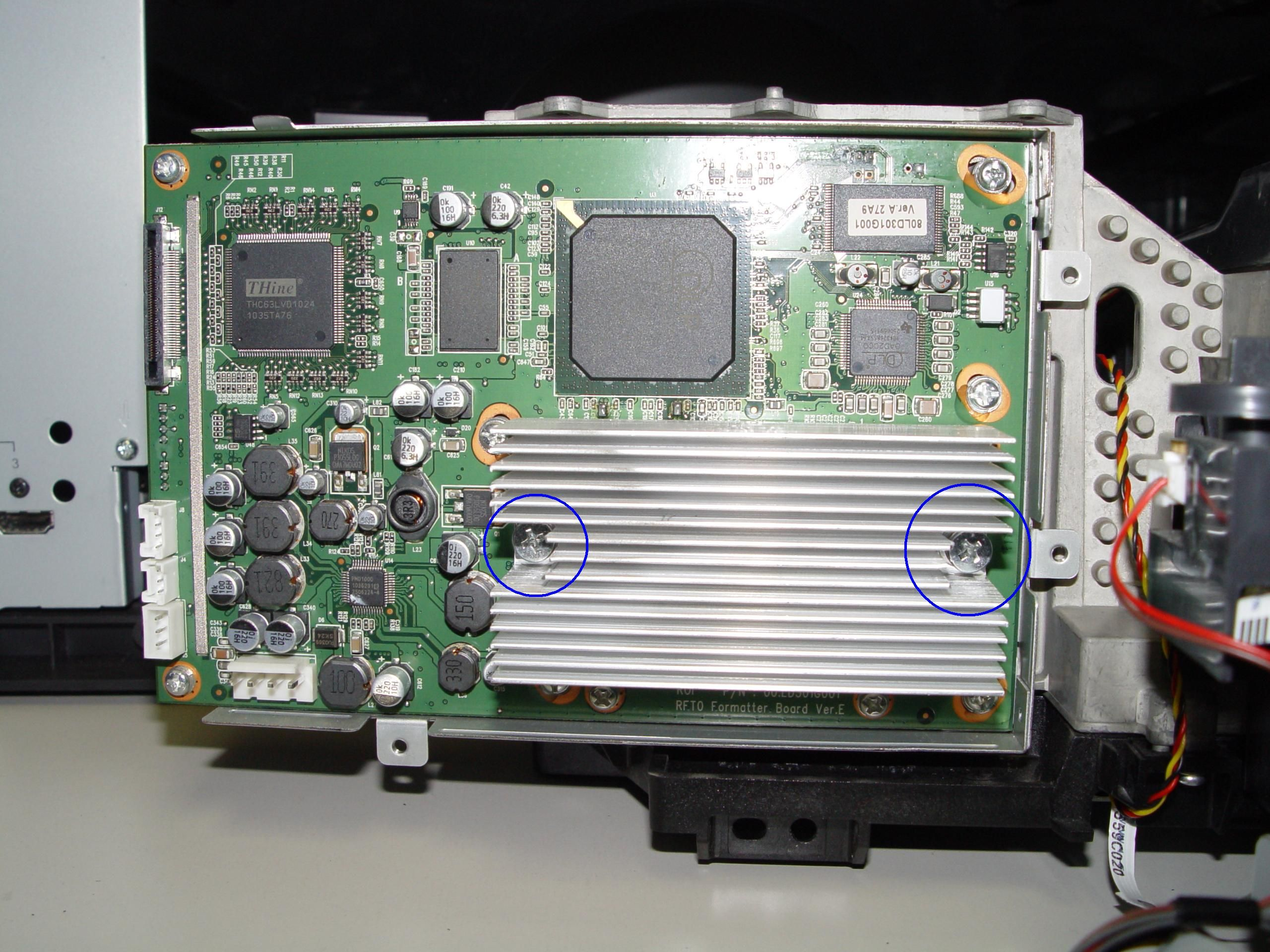 Replace 4719 001997 Dlp Chip In The Mitsubishi Wd 60638 Rptv Gaming Products Chips Mitsubishi