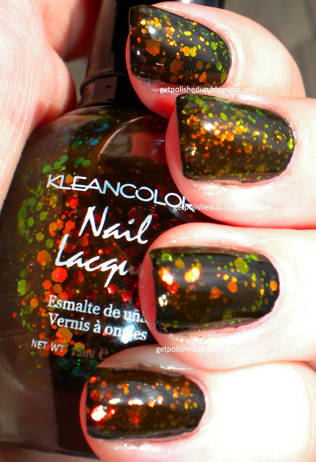 Kleancolor: Chunky Holo Black | Polishes I like | Pinterest | Nail ...