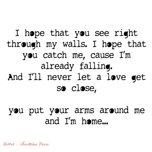 i hope that you see right throw my walls  i hope that you