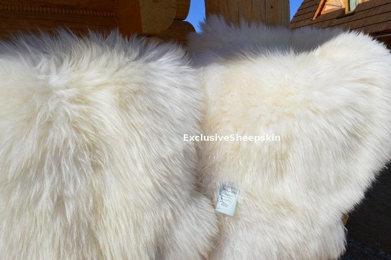 Genuine Sheepskin Rug 100 Natural Color Soft Long Wool Etsy In 2020 Sheepskin Rug Childrens Playroom Rugs