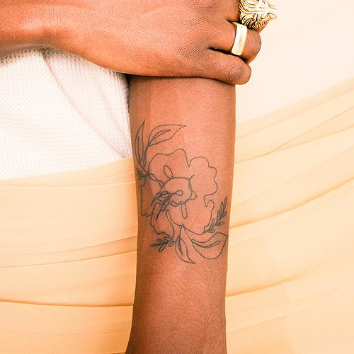 Alstroemeria Tattoo - Semi-Permanent Tattoos by inkbox™