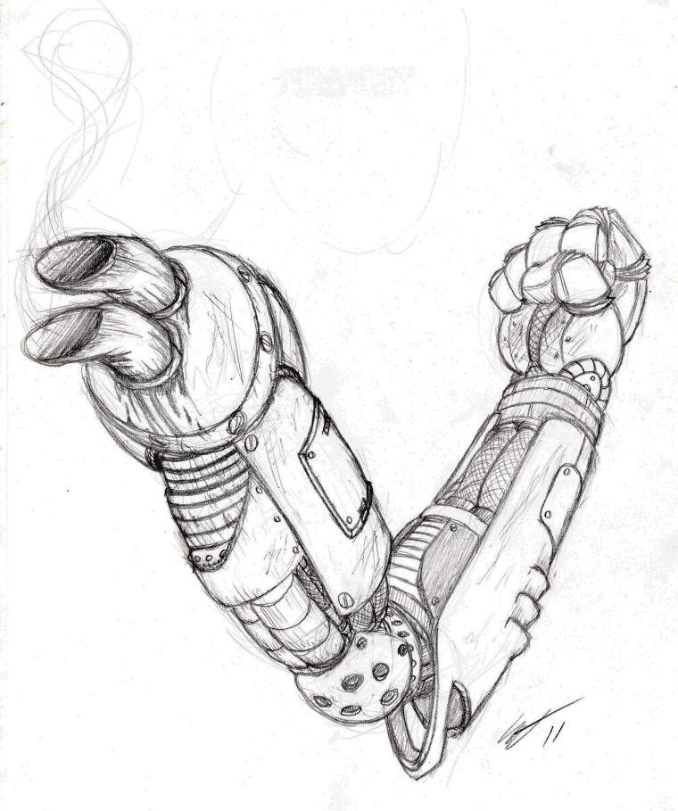 Diesel Punk Arm by EskimoMittens.deviantart.com on