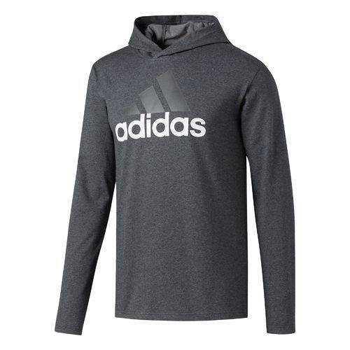 Adidas Uomini Distintivo Lunghe Dello Sport A Maniche Lunghe Distintivo Cappuccio (Grigio Scuro Heather d4571c
