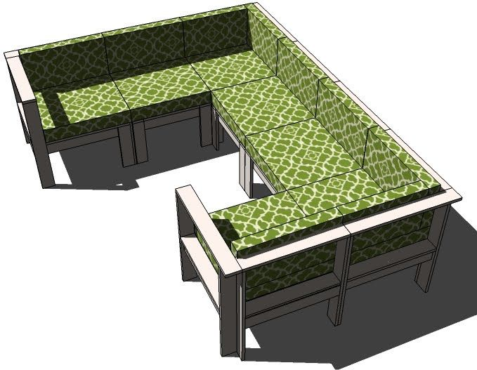 awesome outdoor furniture for small spaces | Simple Modern Outdoor Sectional - Armless Piece with ...