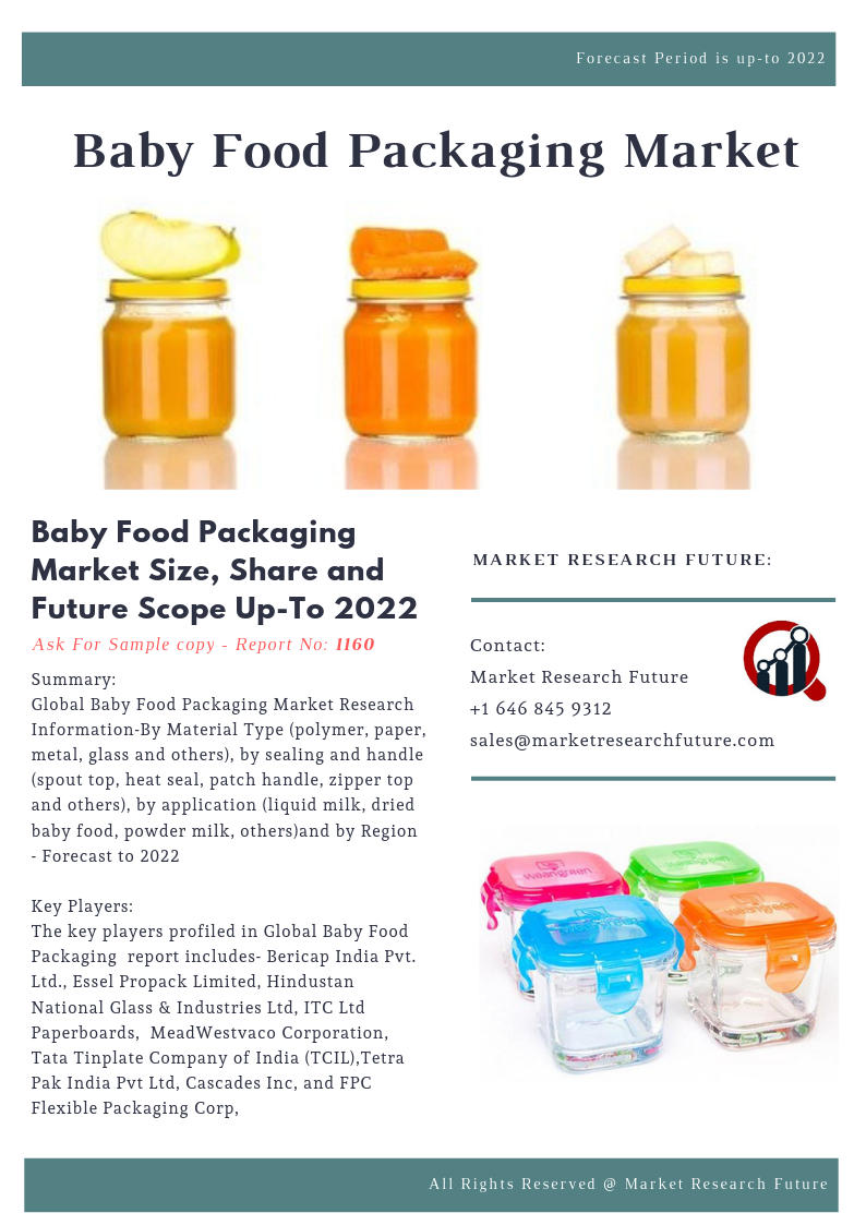 Baby Food Packaging Market Size, Share and Future Scope Up