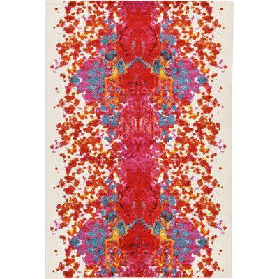 Varick Gallery Shuman Red Area Rug Rug Size: