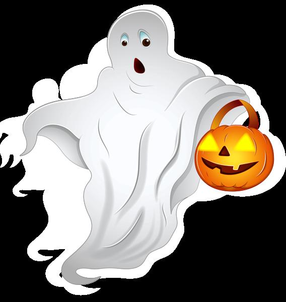 Halloween Ghost With Pumpkin Basket Png Clipart Halloween Clips Halloween Clipart Clip Art