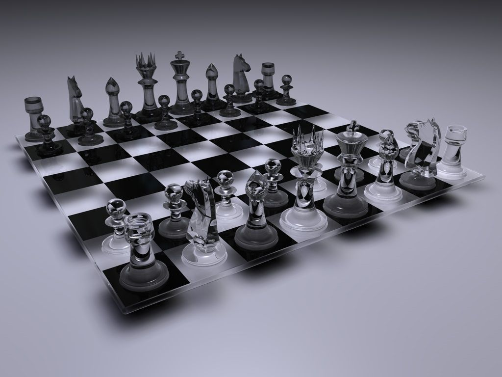 Glass Chess Set Revisited by harrycantdraw on DeviantArt