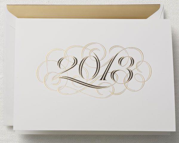 Crane Engraved Holiday Card