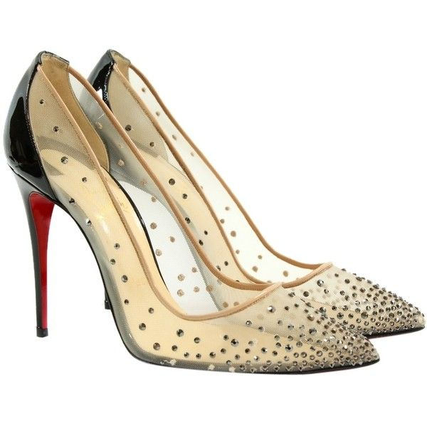 low priced 3175f 6c7bf Pre-owned Christian Louboutin Crystal-embellished Follies ...